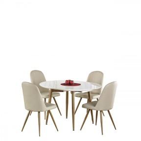 Essgruppe: Tisch Edward + 4 Stühle K214 (5-teilig)