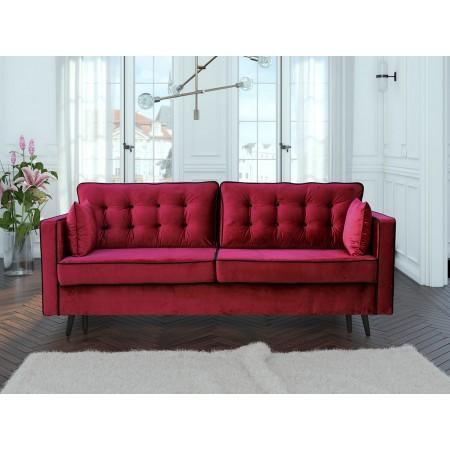 Sofa Burgundia mit Schlaffunktion und Bettkasten