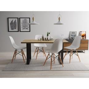 Essgruppe: Tisch Festa 160 + 4 Stühle Oktawa (5-teilig)