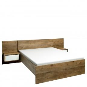 Bett mit Nachttische Troms L1 TS04