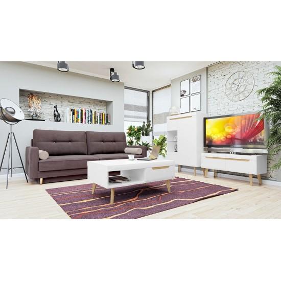 Wohnzimmer-Set Nahe VIII + Sofa Solo