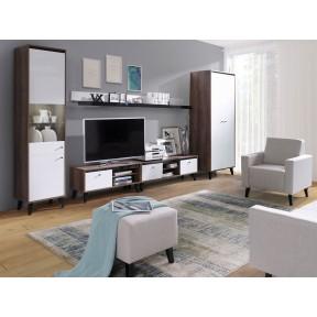 Wohnzimmer-Set Vodie Gloss mit Sessel I