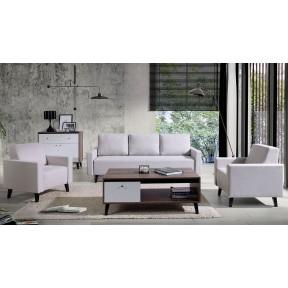 Wohnzimmer-Set Vodie Gloss mit Sofa II