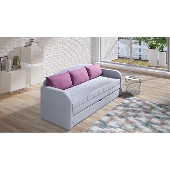 Sofa Sunet II mit Schlaffunktion und Bettkasten