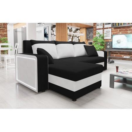 Ecksofa Zoni LED mit Bettkasten und Schlaffuntkion