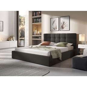 Polsterbett Marisol mit Bettkasten und Lattenrost aus Holz