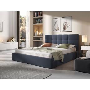 Polsterbett Marisol mit Bettkasten und Lattenrost aus Metall