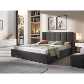 Polsterbett Perla mit Bettkasten und Lattenrost aus Holz