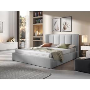Polsterbett Perla mit Bettkasten und Lattenrost aus Metall