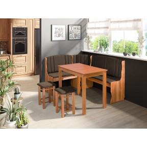 Eckbank + Tisch und zwei Hocker Ely II