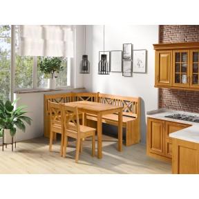 Eckbank + Tisch und zwei Stühle Hereford