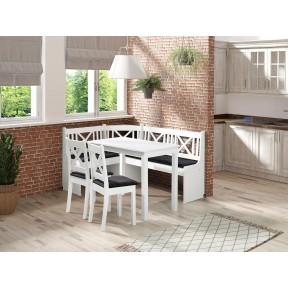 Eckbank + Tisch und zwei Stühle Hereford 1