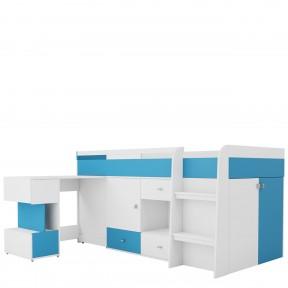 Jugendbett mit Schreibtisch Frumen FU21