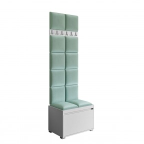 Garderobe-Set Loremis 60 + 12 Stück Gepolstertes Wandpaneel Pag 30x30