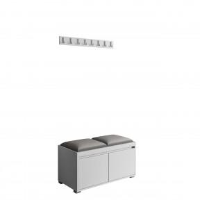 Garderobe-Set Loremis 80 + 2 Stück Gepolstertes Wandpaneel Pag 40x30
