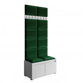 Garderobe-Set Loremis 80 + 12 Stück Gepolstertes Wandpaneel Pag 40x30