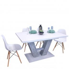 Essgruppe: Tisch Awens + 4x Stuhle Oktawa